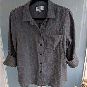 Madewell gray thick soft cotton button down